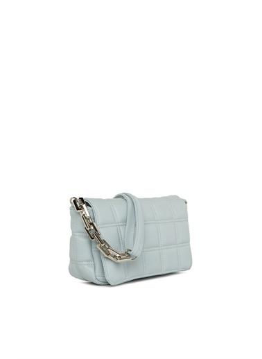 Bagmori Kadın Nakışlı Kapaklı Mini Çanta M000004928 Mavi